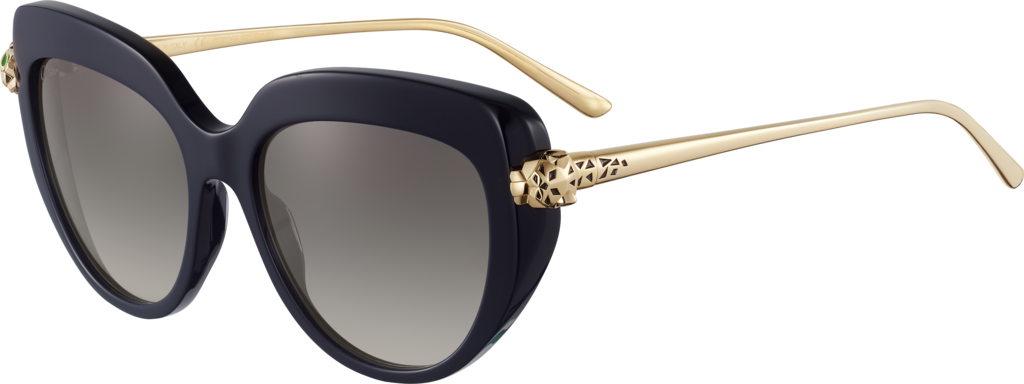 Panthère de Cartier sunglassesBlack composite and graduated grey lenses