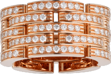 Maillon Panthère ring Pink gold, diamonds