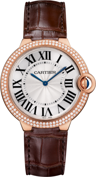 Ballon Bleu de Cartier watch 40 mm, 18K pink gold, diamond