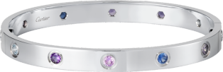 <span class='lovefont'>A </span> bracelet White gold, aquamarines, sapphires, spinels, amethysts